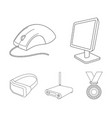 monitor mouse and other equipment personal vector image