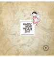 New year card with copy space vector image vector image