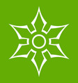 ninja shuriken star weapon icon green vector image vector image