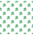 om symbol of hinduism pattern seamless vector image vector image