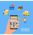 Online mobile shopping concept vector image