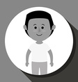 People cartoon gray and white vector image vector image