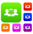 people group set color collection vector image