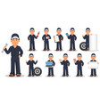 professional auto mechanic in uniform set vector image
