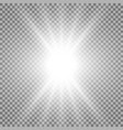 rays of light white color vector image