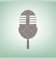 retro microphone sign brown flax icon on vector image vector image