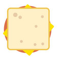 sandwich top icon flat style vector image vector image