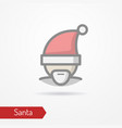 santa claus in new year hat icon vector image vector image