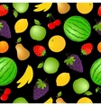Seamless fruits and vegetables background vector image vector image