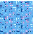 Seamless geometric pattern in retro 80s style vector image vector image
