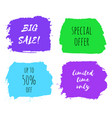 set of big sale design templates vector image