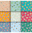 Set of Seamless Patterns with Diamonds vector image
