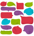 Set of special colour bubble with knitwear texture vector image vector image