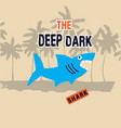 shark with typo for t shirt and other uses vector image vector image