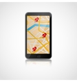 Smart phone with GPS navigation vector image vector image