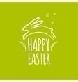 Template design Easter card with Easter bunny vector image vector image