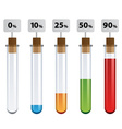 test tubes percent infographic vector image vector image