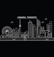 toronto city silhouette skyline canada - toronto vector image