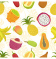 tropical fruits seamless pattern with sweet ripe vector image vector image