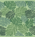 tropical leaves seamless pattern beautiful floral vector image vector image