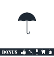 Umbrella icon flat vector image vector image