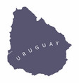 uruguay silhouette map vector image vector image