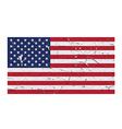 USA flag symbol peeling vector image vector image
