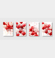 valentines mothers day modern abstract card vector image vector image