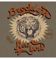 vintage label with tiger vector image vector image