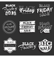 Black friday label badge with calligraphic design vector image