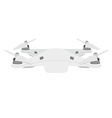 White quadcopter drone vector image