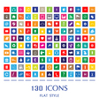 130 Web Icons vector image vector image