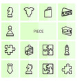 14 piece icons vector image vector image