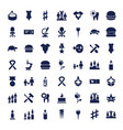 49 one icons vector image vector image