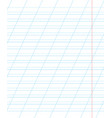a sheet of school notebook in a ruler with a vector image
