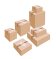 A Stack of Cardboard Boxes with White Labels vector image