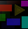abstract background with colorful squares and vector image