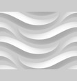 abstract white wavy 3d texture vector image
