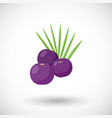 acai berries flat icon vector image vector image