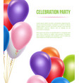 advertizing poster with balloons transparent vector image vector image