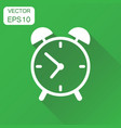 alarm clock icon business concept clock timer vector image