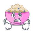 angry porridge breakfast in cartoon dining table vector image vector image
