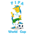 Armadillo FIFA World Cup mascot isolated on white vector image vector image