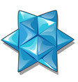 arrangement triangular pieces ice in the vector image