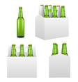 beer bottle mockup set realistic vector image vector image