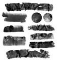 black brushstroke set vector image vector image