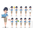 business woman set vector image vector image