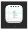 check list ok icon gray icon on notepad style vector image vector image