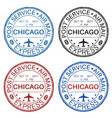 chicago postmarks set of colored ink stamps vector image vector image