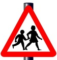 Children Traffic Sign vector image